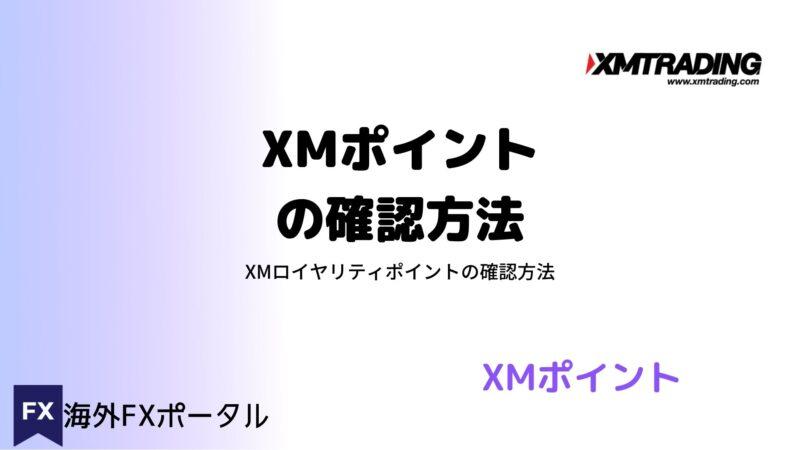 XMポイントの確認方法